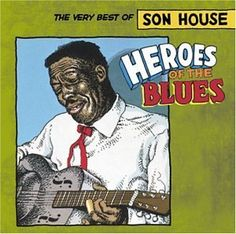 One of a huge series of album covers showcasing the greats of blues. Here Crumb illustrates Clarksdale, Mississippi blues guitarist, Son House.