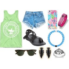 587a68b11abb hot summer day by okieprep on Polyvore featuring Chaco