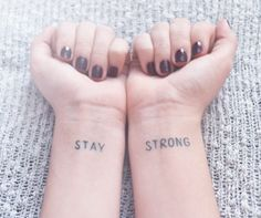 my stay strong tattoo :) lovatic