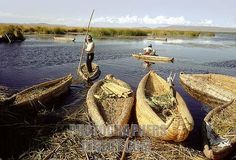 Reed Islands Peru | ... Peru . Lake Titicaca . Floating reed islands stock photo pd1780577.jpg