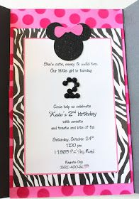 Heavenly Blooms: Kate's Minnie Mouse Invitation