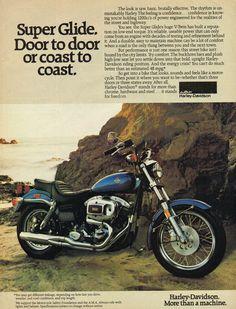 1980 AMF Harley Davidson 1200 Super Glide Print Ad *Instant Download* by DigiAds on Etsy