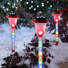 """Light Show Shooting Stars Pathway Christmas Stakes Lights Multi-Color . $49.99. Stake easily into the ground. Feature a cascading """"shooting star"""" lighting effect. Connect multiple sets end-to-end. A festive addition to your outdoor décor. Set of 3 pathway markers. This set of three lighted pathway markers feature a """"shooting star"""" lighting effect and stake easily into the ground.   Light Show Shooting Stars Pathway Christmas Lights, Multi-Color, 3ct: ?Set of 3 lighted pathway ..."""