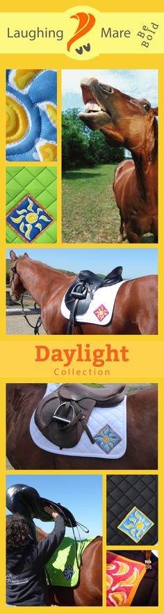 The Daylight Collection by Laughing Mare Art Saddlepads for English Riding