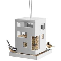 As you can expect from all Umbra products, modern and stylish. Umbra Bird Cafe Hanging Bird Feeder comes in stylish and modern design, even wild birds deserve Modern Bird Feeders, Modern Birdhouses, Hanging Bird Feeders, Hanging Wire, Dot And Bo, Cafe Design, Bird Houses, Home Accessories, Travel Accessories