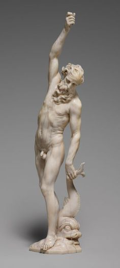 Adam Lenckhardt (1610-1661)  German ivory carver Neptune