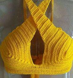 Top Cropped De Croche - Encontre mais belezas mil no site  enjoei.com.br 1c967434b3e