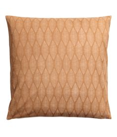Check this out! Cotton canvas cushion cover with a printed pattern at front. Solid-color back in unbleached fabric. Concealed zip. - Visit hm.com to see more.