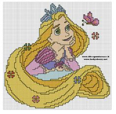 RAPUNZEL PUNTO CROCE - CROSS STITCH by syra1974.deviantart.com on @deviantART