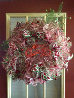 Christmas Ruffle Wreath