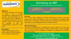 Workshop on GIT at Bangalore Weekday Batch: May 19-20 (Thu- Fri) Weekend Batch: May 21-22 (Sat- Sun) WebURL : www.bit.ly/kw_git Contact : Chinmaya S Patil ( 9886077575 )
