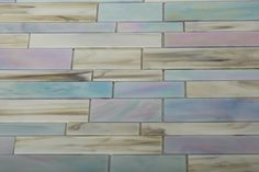 Shop 10 1/2 x 10 3/4 Matchstix Kismet Stained Glass Tile in Iridescent Shades of Blue + Pink, White + Hint of Gray at TileBar.com. OUT OF STOCK @ TILEBAR.COM