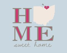 Custom Map, Home Sweet Home Print - 8x10 Personalized Art Print, You Choose Location, Colors - Home Decor, Entry Way, Living Room, Gift on Etsy, $22.99