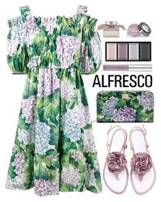 """""""Alfresco Dining"""" by amchavesj-1 ❤ liked on Polyvore featuring WithChic, Dolce&Gabbana, Clé de Peau Beauté and alfrescodining"""
