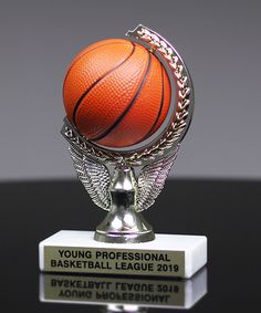 Show Details For Squeezable Basketball Spinner Trophy