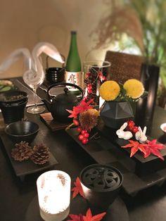 お月見テーブルコーディネイト 和テーブルコーディネイト Afternoon Tea Tables, Event Design, Wedding Cards, Table Decorations, Joyful, Moon, Couture, Google, Home Decor