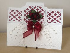 Wedding card made with Tonic Idyllics dies and embossing folder. Tonic Cards, Tattered Lace Cards, Studio Cards, Spellbinders Cards, Birthday Cards For Women, Embossed Cards, Die Cut Cards, Christmas Cards To Make, Anniversary Cards
