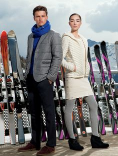 Simon Nessman visits the French Alps for the Americana Manhasset's Fall Winter 2013-2014 catalogue
