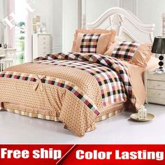 Find More Bedding Sets Information about Fancy bed covers bedding set paris floral coverlet and plaids adults kids bedding king size bed in a bag sets ruffle duvet cover,High Quality bedding cover,China bed and bedding Suppliers, Cheap bed linen duvet sets from Dreamy home on Aliexpress.com
