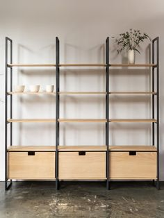 Shelves and Drawers Wood Shelving Units, Shop Shelving, Retail Shelving, Shelving Design, Shelf Design, Wood Shelves, Design Case, Display Shelves, Modern Bookcase