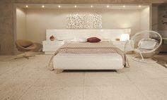 Etrusco areia - Designer de interiores Roseane Sanches          #quarto #quartos #aconchego #room #bedroom #habitácion #castelatto #castelato #castellato #revestimento #design #arquitetura #parede #decor #decoração #sofisticacao #wall #piso #textura #inovacao #floor