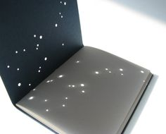 Custom Constellation Eco Booklet, $10.00  The cover is punched with holes in the arrangement of a constellation.