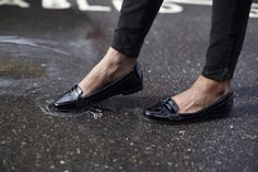 SPONSORED: Hit the road in black patent loafers. Show your Mustang style at www.ford.com/cars/mustang/customizer/