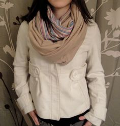 Reversible infinity scarf @ OAKscarves for $30.00