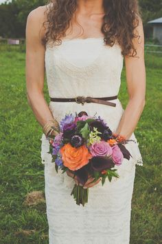 Farm-to-table shoot bouquet. (flowers by colormyworldflowers.blogspot.com)  	www.kelseyharrisonphotography.com