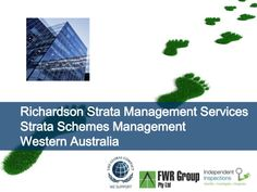 Richardson Strata Schemes Management Perth WA by Peter Greenham via slideshare http://iigi.com.au/services/strata-services/