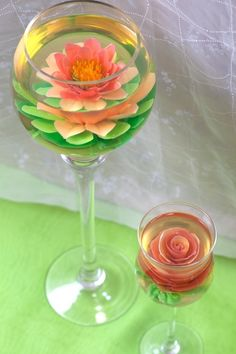 100% edible elegant gelatin flowers set inside transparent water gelatin make the perfect artistic dessert for your celebration. Personalize your dessert by gelatin flavor, exotic and unique floral design, or distinct color palette. We can create edible works of art that are a hit at any party