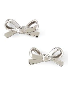 Mini+Bow+Stud+Earrings,+Silver+by+kate+spade+new+york+at+Neiman+Marcus.