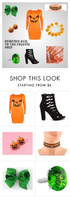 """""""Everyone Hail To The Pumpkin Song"""" by charleyralph ❤ liked on Polyvore featuring Boohoo"""