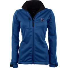 Antigua Women's Montreal Impact Traverse Red Soft-Shell Full-Zip Jacket, Size: Medium, Team