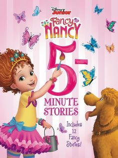 Based on the Disney Junior TV show and inspired by the classic picture book series, each of the 12 stories in this collection is perfect for reading aloud in just 5 minutes! In this collection of fabulous stories, Fancy Nancy puts on her own dog show, learns to ice-skate, goes on a camping adventure, and more! With each story timed to be a five-minute read-aloud, this storybook collection makes any time the perfect time for fancy fun. 5 Minute Stories, Celebrity Books, Mermaid Tails For Kids, Movie Night Snacks, Fancy Nancy, Baby Development, Disney Junior, Dog Show, Stories For Kids