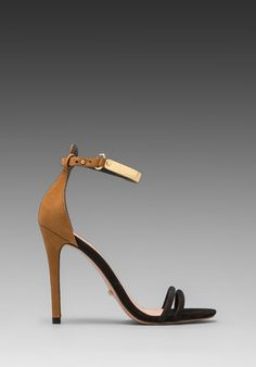SCHUTZ Celina Heel in Black/Brown at Revolve Clothing - Free Shipping!