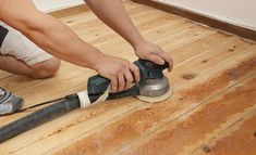 Learn how to refinish hardwood floors to restore flooring in your home with this helpful guide from the refinishing hardwood floors DIY experts at the Home Depot. Sanding Wood Floors, Wood Floor Finishes, Wood Refinishing, Old Wood Floors, Installing Hardwood Floors, Refinishing Hardwood Floors, Flooring Cost, Diy Flooring, Wooden Flooring
