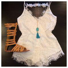 Lauren Crochet Romper / Diva Moda Fashion Couture