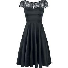 Black Mesh Lace - Mittellanges Kleid von H&R London