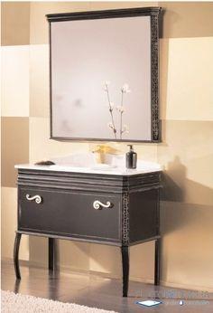 Mueble de Baño London, fabricado en madera maciza con un estilo vintage único Vintage London, Vanity, Bathroom, Solid Wood, Bathroom Furniture, Vintage Style, Dressing Tables, Washroom, Powder Room