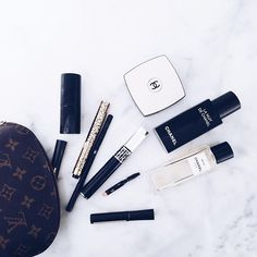 FOR THE BEAUTY || Louis Vuitton make up bag essentials - Chanel & Dior || NOVELA BRIDE...where the modern romantics play & plan the most stylish weddings... www.novelabride.com (instagram: @novelabride)