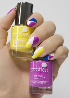 This graphic nail art look is surprisingly easy! All you need is striping tape and your favorite polishes to create it. Learn each step with this DIY.