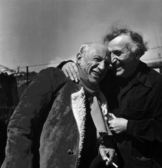 Pablo Picasso and Marc Chagall by Philippe Halsman (1955)