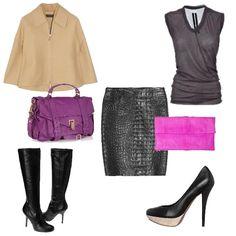 Várias maneiras de usar uma saia de couro!