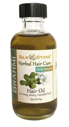 Silk and Stone 100% Pure and Natural Brahmi Oil for Healthy, Long, Beautiful Hair. (2oz) >>> Read more at the image link. (This is an Amazon affiliate link)