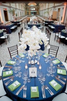3. Sage Green and Navy Blue - 7 Gorgeous Wedding Color Schemes for 2014 ... → Wedding