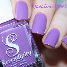 Looking for a perfect purple? •Vacation Vibes• is a winner for sure  Swatch by: @anikibee  Available on Serendipitypolish.com