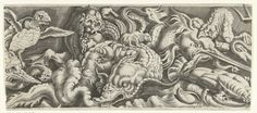 Fries with the triumph of Neptune, middle part by Cornelis Bos, 1548…