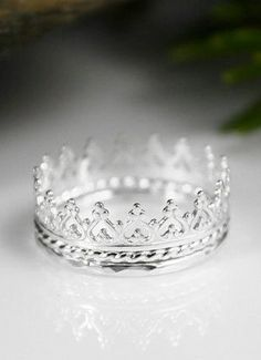 Princess Crown Ring Tiara Love the idea of getting something like this for the girls when they are older.