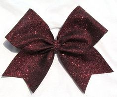 Maroon Glitter Sparkle Cheer Cheerleading by elitesparklecheerbow, $11.99